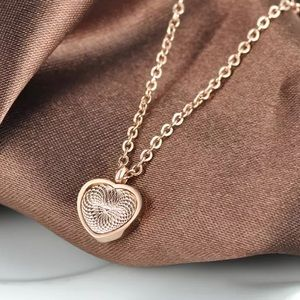 Rose Gold Stainless Steel Heart Necklace